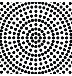 dots circles radial abstract pattern or vector image