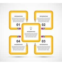 Education pencil option Infographics design vector
