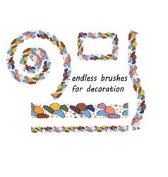 endless brush decoration for design tasks and vector image