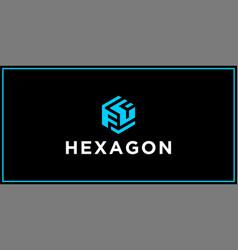Ff hexagon logo design inspiration vector