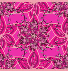 flowers on magenta pink and purple colors floral vector image