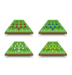 Football lineup formation and tactics on vector