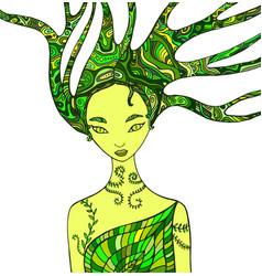 Forest fairy shaman vector