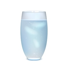 Glass of iced water vector image