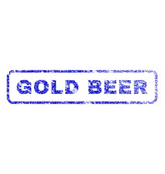 Gold beer rubber stamp vector