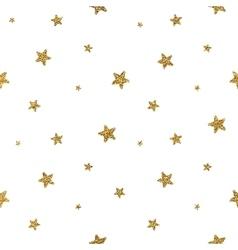 grunge seamless pattern gold glitter stars vector image