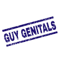Grunge textured guy genitals stamp seal vector