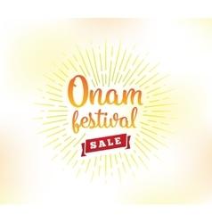 Happy onam festival vector