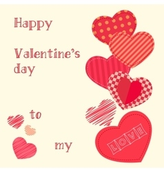Happy valentines day design template valentine s vector