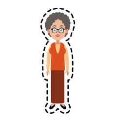 Happy woman cartoon icon image vector