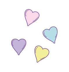 Hearts cute cartoons vector
