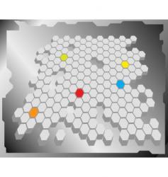 hex grid vector image