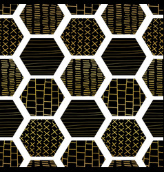 hexagon abstract seamless geometric pattern vector image