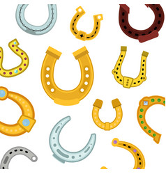 horseshoes seamless pattern vector image