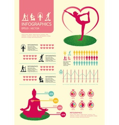 infographic sport for health vector image