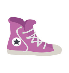 Isolated violet sport footwear vector
