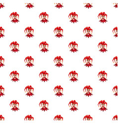 Jester in red hat pattern vector
