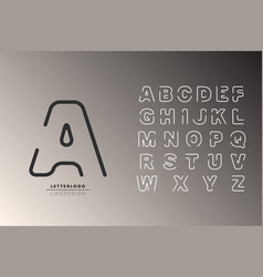 logo alphabet font letters logotype vector image