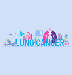 Lung cancer concept for header pleurisy vector