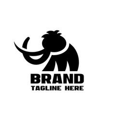 modern mammoth letter m logo vector image