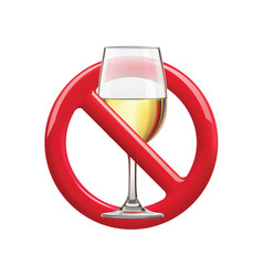 No drinking sign prohibiting sign for alcohol vector