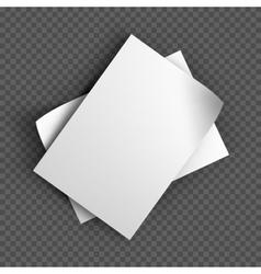 Paper sheets mockup on transparent background vector