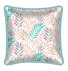 Patterned decorative pillow cushion vector