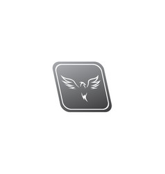 Phoenix flying bird and eagle open wings logo vector