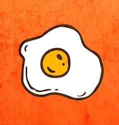 Poached Egg Cartoon vector image