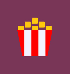 popcorn cinema icon vector image