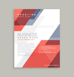 Red blue geometric shape business flyer design vector