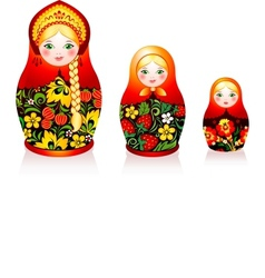 Russian tradition matryoshka dolls vector