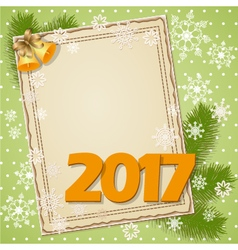 Scrapbooking card 2017 vector