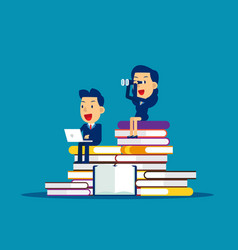 Searching and learning concept business analysis vector