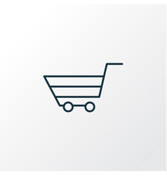 shopping basket icon line symbol premium quality vector image