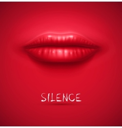 Silence background vector image