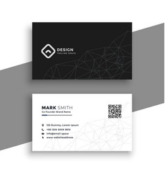 simple black and white business card vector image