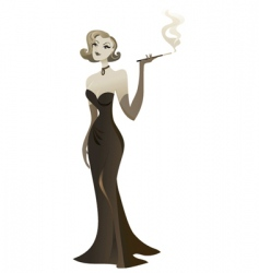 smoking babe vector image