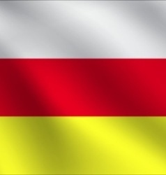 South Ossetia flag vector image