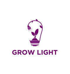 Spectrum grow light logo design plant vector