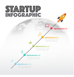 start up new business project infographic vector image