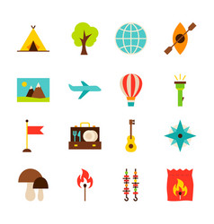 summer camp objects vector image