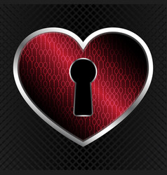 Technology cyber security keyhole love heart vector