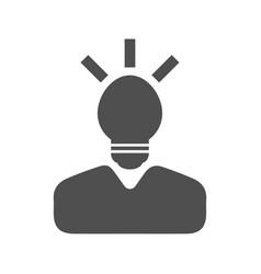 thinking icon vector image