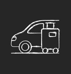transfer chalk white icon on black background vector image