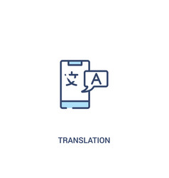 Translation concept 2 colored icon simple line vector