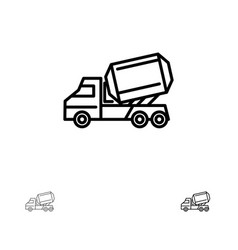 truck cement construction vehicle roller bold and vector image