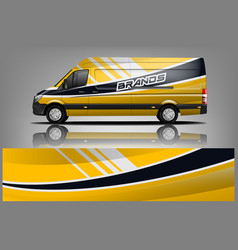 Van car wrap design for company vector