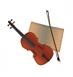 Violin and music vector