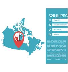 Winnipeg map infographic vector